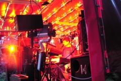Showbühne beim Dampflokfest - Nachts