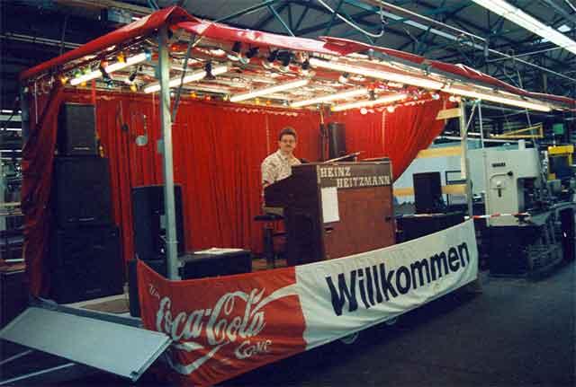 Showbühne Betriebsfest Getrag