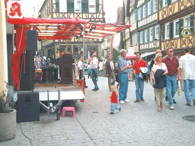 Showbühne beim Stadtfest in Schwäbisch Hall 1