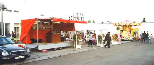 Showbühne beim Straßenfest in Speyer